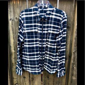 Women's CHAPS Zip Down Flannel XL $69 Never Worn